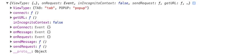 content.js下的chrome.extension对象